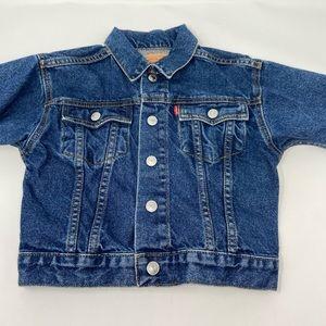 Levi's Kids Dark Wash Jean Jacket Button Snaps 2T